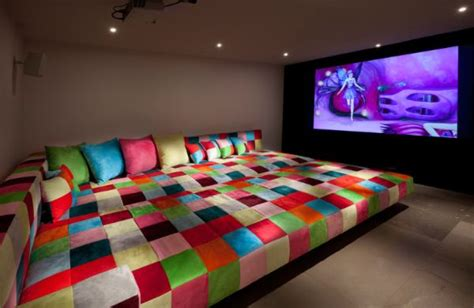 huge bed how to organize your media room so that everyone can enjoy it