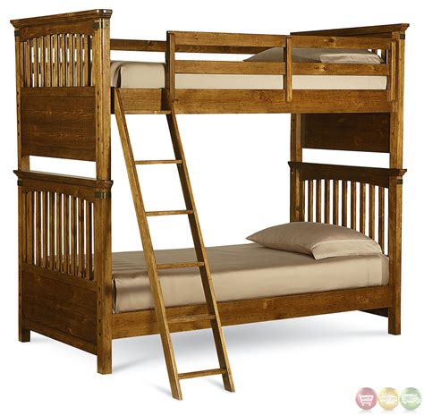twin over twin bunk beds bryce canyon heirloom pine twin over twin bunk bed