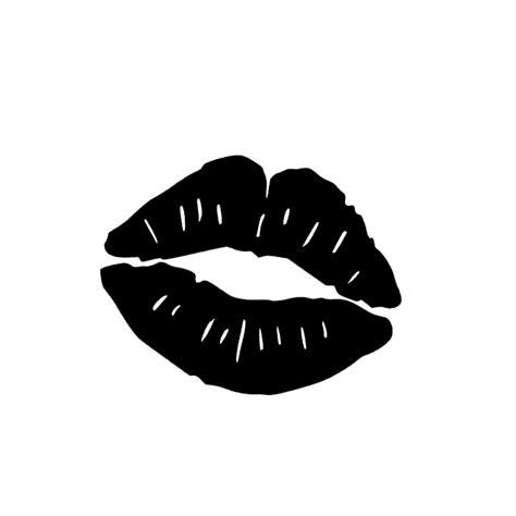 Kiss Mark Lips Full of Temptation Sexy Car Sticker for