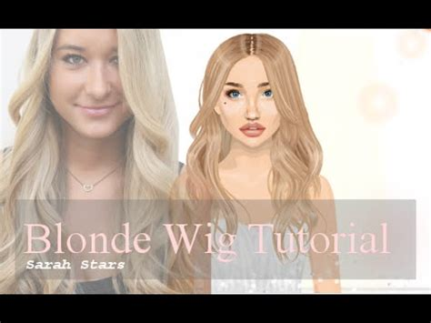 tutorial wig stardoll stardoll hair tutorial long blonde wig hsm3rocks11011