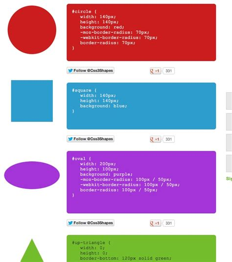 pinterest layout pure css http www css3shapes com pure css to create shapes