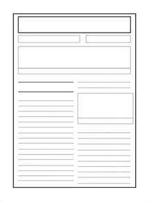 Writing Newspaper Reports Ks2 Template 8 newspaper report templates illustration design files free premium templates