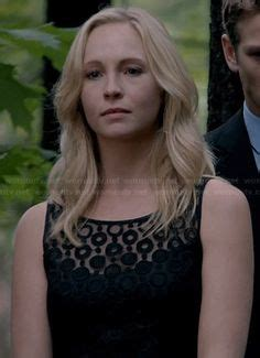 Caroline Polka Dress elena s black dress at the funeral on the diaries details http wornontv net