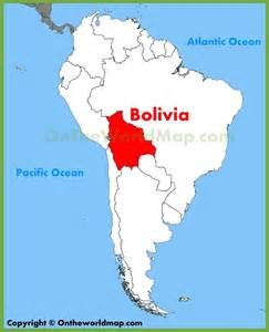 Bolivia World Map by Bolivia Location On The South America Map