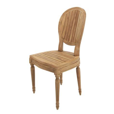 sedie da giardino sedia da giardino in tek louis maisons du monde