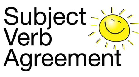 verb subject agreement free