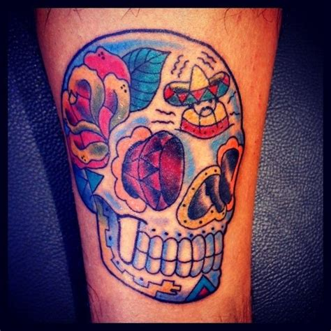 swag tattoo designs 8 colorful sugar skull ideas tattoos