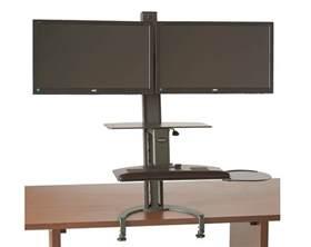 dual monitor standing desk taskmate go dual notsitting