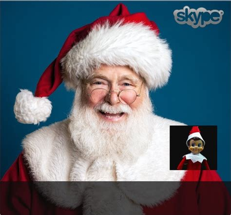 On The Shelf Talking To Santa by How To Skype With Santa Elfontheshelf Santa Inspire
