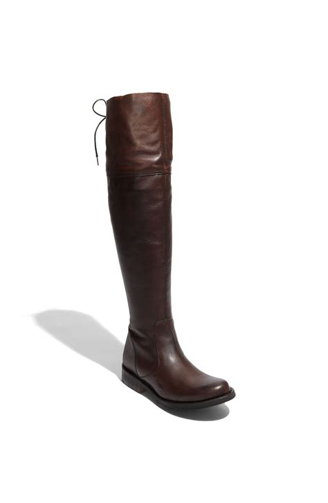 steve madden omegaa the knee boot in brown brown