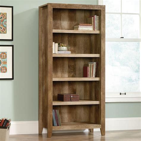 sauder dakota pass  rustic finish  shelf bookcase