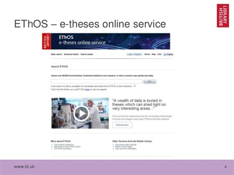 ethos dissertations ethos uk e theses service the library