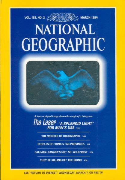 National Geographic 1971 Jual Satuan holografische toepassingen ontstonden 70 jaar geleden 1 optische fenomenen