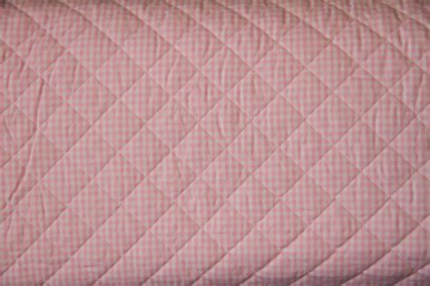Pre Quilted Cotton Fabric by Pink Gingham 100 Cotton Pre Quilted Fabric By The Yard Ebay