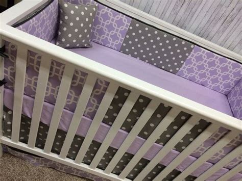 Purple Chevron Crib Bedding Baby Crib Bedding Cot Set Crib Set Purple Lavender Chevron And Gray Geometric Stripes On Etsy