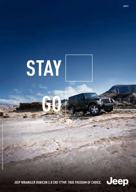 jeep print ads adventure encouraging auto ads jeep print ad