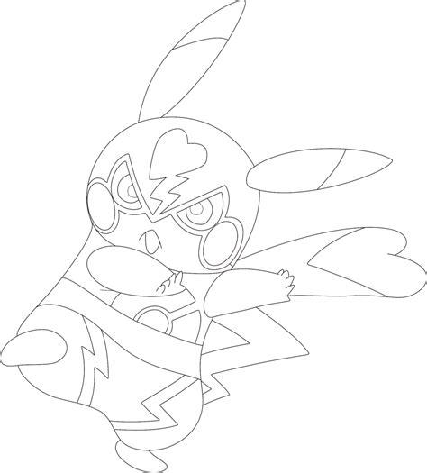 Pikachu Libre Coloring Page