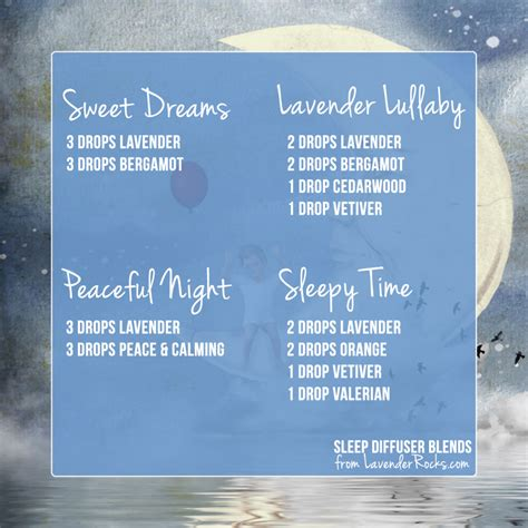 Essential Oil Diffuser essential oil diffuser blends for sleep sweet dreams