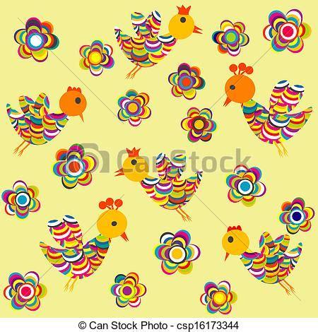 bambini fiori stilizzato fiori bambini uccelli fondo disegno cerca