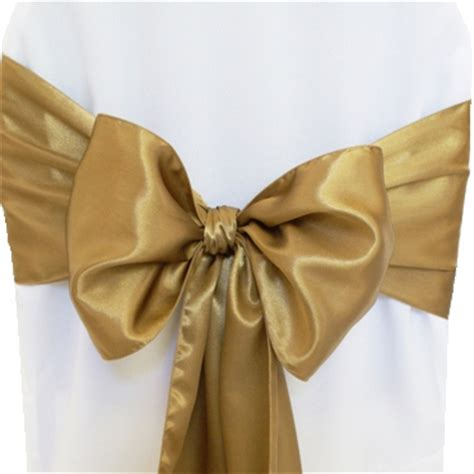 Gold Sashes For Chairs by Antique Gold Satin Chair Sashes Chair Bows Ties Wedding