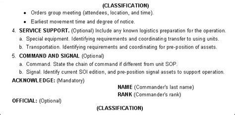 figure c 21 warning order format exle continued