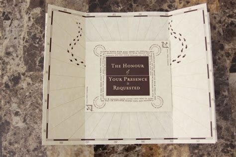 I Ordered A Sle Of The Marauder S Map Invitation Picture Heavy Marauders Map Template