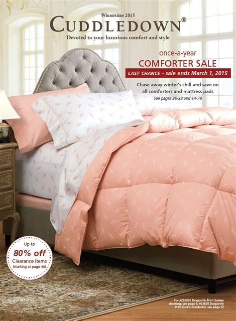 cuddledown down comforter 17 best images about cuddledown catalog covers on