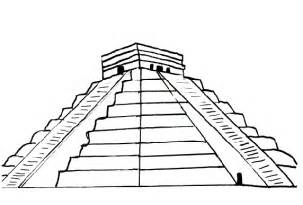 color pyramid free coloring pages of aztec pyramids