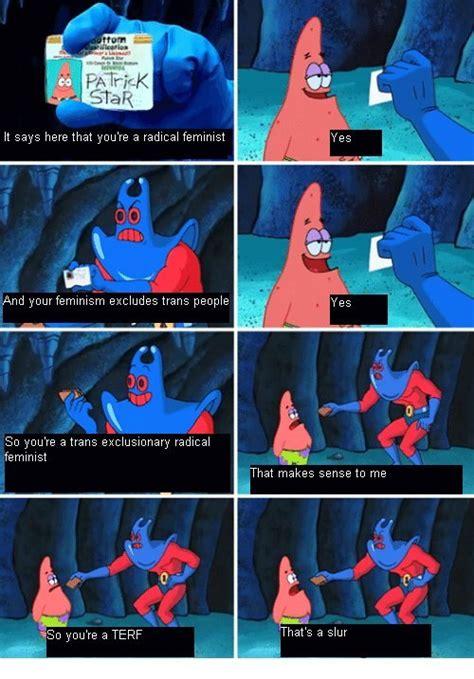 Spongebob Wallet Meme - quot uwu terf is a slur quot traaaaaaannnnnnnnnns