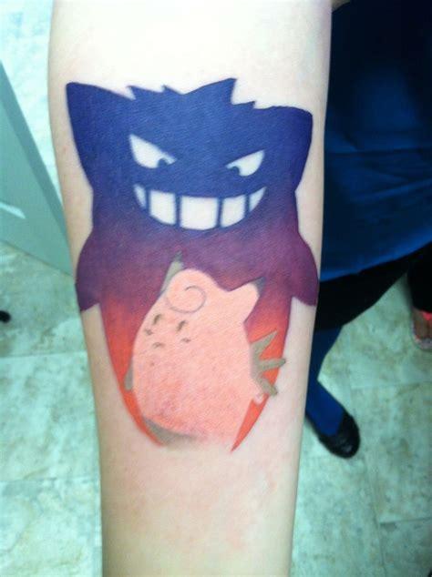 gengar tattoo pok 233 mon gengar clefable