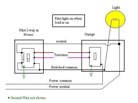 3 way electrical switch wiring diagram indicator on a