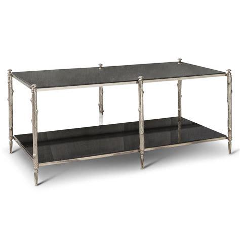 Spring Lake Global Twig Black Marble Silver Coffee Table Black Silver Coffee Table