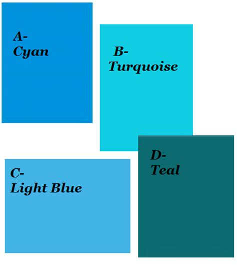 aqua color meaning difference between cyan turquoise lt blue teal color