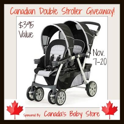 Canadian Giveaways - canadian double stroller giveaway canadianstroller frugal mom eh