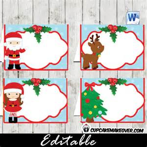 christmas gift tags editable labels instant download