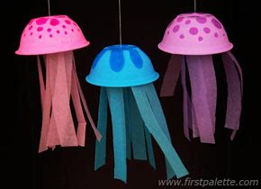 How To Make A Paper Jellyfish - paper bowl jellyfish craft crafts firstpalette