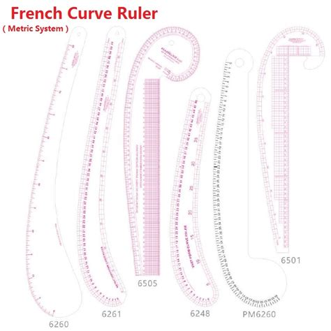 kearing 6505 armhole curve ruler pattern making rulers french curve ruler promotion shop for promotional french