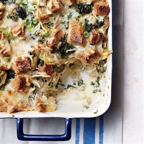 strata recipes artichoke and spinach strata recipe myrecipes