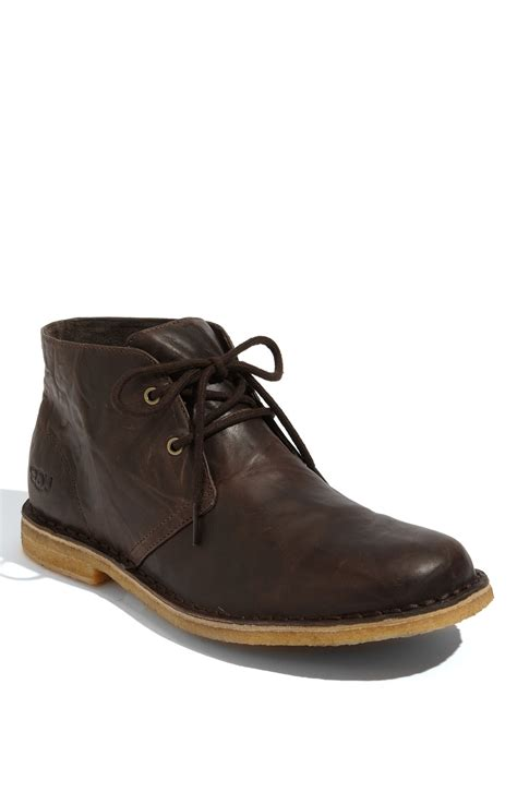 boot shoes for mens ugg leighton chukka boot in brown for chocolate lyst
