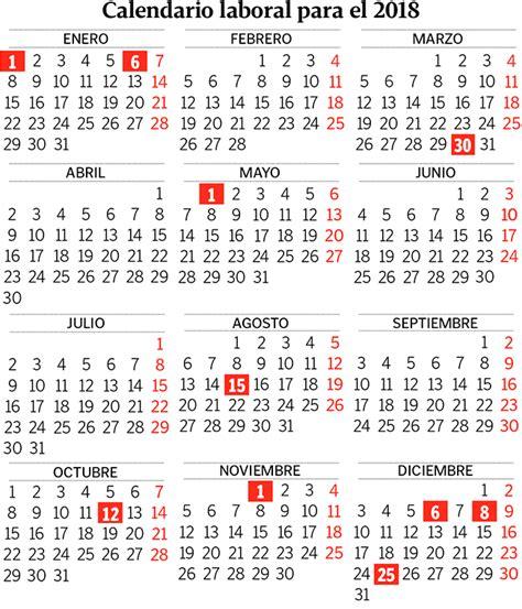 Calendario 2018 Andalucia Calendario Laboral 2018 Empleo