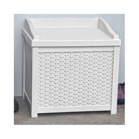 white wicker storage bench white wicker deck seat storage box outdoor storage bench
