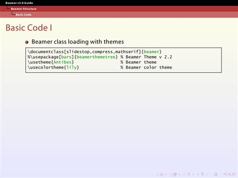 beamer themes code how to make slide with latex and beamer