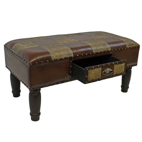 faux leather bench faux leather storage bench in mix pattern ywlf 2532 mx