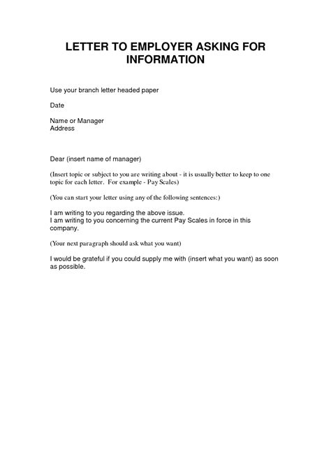 Formal Letter Format Asking For Information Best Photos Of Business Letter Requesting Information