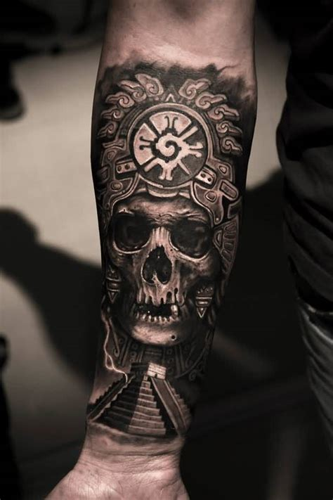 skull tattoos on forearm 3d arm tattoos