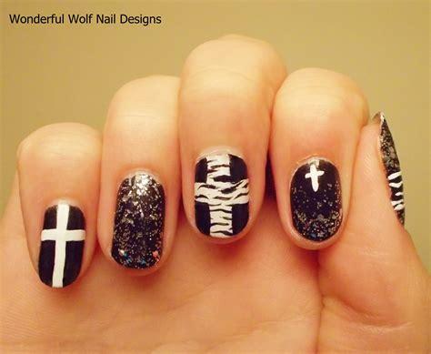 cross pattern nails cross nail art wonderfulwolf
