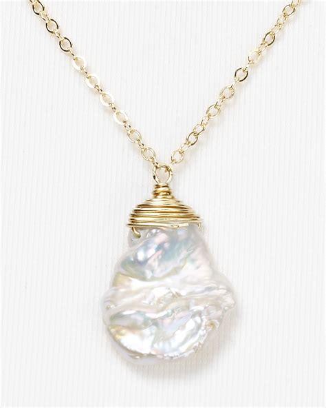 Kaos Juragan Gold Silver Mengkilat Bling Bling dogeared one in a million keshi pearl necklace 18 in metallic lyst