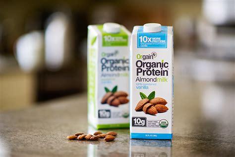 protein almond milk orgain organic protein almondmilk beverages review