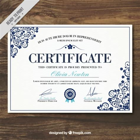 elegant certificate of achievement template vector free