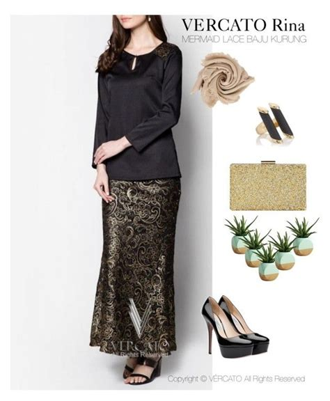 Baju Kurung Lace Gold quot vercato rina baju kurung moden quot in gold and also available in silver shop now http www